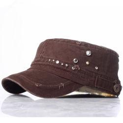 新しいRhinestones Fashion Military Army女性通りの余暇の帽子