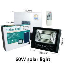 Proiettore solare da 60 W alimentato a energia solare, spot da giardino all'aperto Leggero