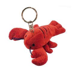Juguete rojo animal marino Llavero Llavero de langosta de peluche