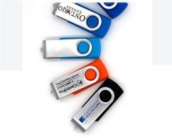 Promotieartikelen 2GB / 4GB / 8GB / 16GB / 32GB metalen draaibaar USB-flashstation voor de computer