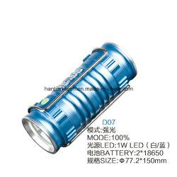Des Lithium-2*18650 helle nachladbare Fackel Batterie-des Aluminium-2 der Nachtled