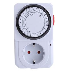 Ue/AU/US 24 Horas para economia de energia elétrica mecânica do bujão do soquete do interruptor do temporizador programável