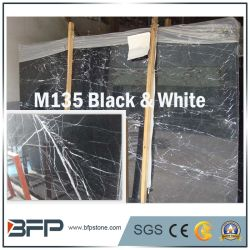 M135 Blanco y Negro las losas de mármol natural Gangsaw