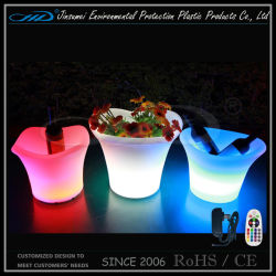 Balde de gelo do resfriador de vinho de LED com iluminação de LED para bar/clube/Hotel