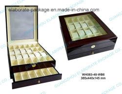 Double-Desk Mostruário de luxo madeira Caixa de relógio