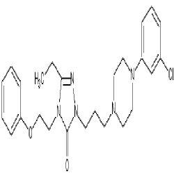 Nefazodone гидрохлорида 2-[3-[4-(3-Chlorophenyl) -1-Piperazinyl]Propyl]-5-этиловый-2, 4-дигидроэторфин) - 4-(2-Phenoxyethyl) -3 h 1, 2, 4 и 3-Triazol один
