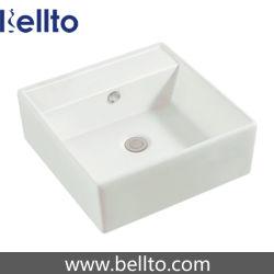 Laver lavabo en céramique carrée blanche avec certificat CE (3311)