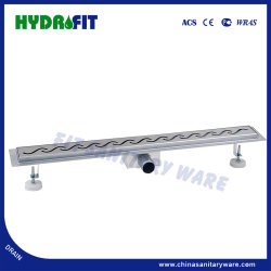 Scolo lineare dell'acquazzone di vendita della presa laterale calda SUS304 dell'acciaio inossidabile 304 con la grata lineare della grondaia del Drainer dell'acquazzone del Drainer dello scolo lineare della flangia