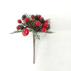 Décoration de Noël de mariage Berry Fruits Branch Picks partie Fleur artificielle