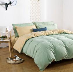 Hotel barato roupa de cama branca PCS 4 conjunto de roupa de cama Lençol 100% de roupas de cama de algodão