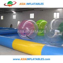 Publicidade clara balão insuflável, águas transparentes do balão de helio