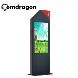 Infrarot-LCD-Anzeigebildschirm Air-Cooled Vertical Screen Floor Ultra-Thin Outdoor Advertising Machine 55 Zoll DIY Advertising Display Backlit-Led