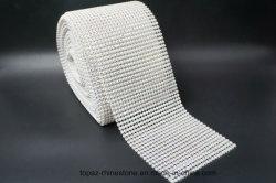 백색 손질 수정같은 메시 플라스틱 컵 패션 악세사리 (TP 결정 ab)를 가진 수정같은 Ab 모조 다이아몬드