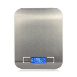 Digital-grosse rostfreie Plattform, zum Haushalts-Hintergrundbeleuchtung-Bildschirmanzeige-Küche-Schuppen-der elektronischen Gewichtung-Schuppe zu wiegen