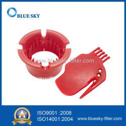De rode Plastic Schoonmakende Hulpmiddelen van de Schraper voor Irobot Roomba 400 500 600 700 de Stofzuiger van 800 Robot