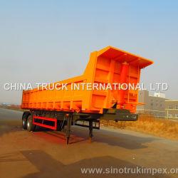 Fuwa 2つの車軸40トンの半油圧ダンプのトレーラーまたはダンプカーのトレーラーかトラックのトレーラー