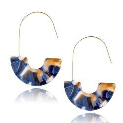 Nouveau Leopard imprimé en forme de U de résine acrylique Earrings Bijoux pour les femmes, les femmes Earrings Wholesale