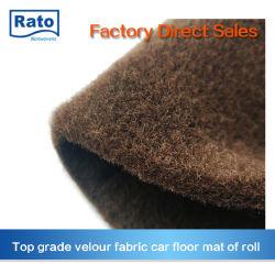 Le pet de velours de tapis de plancher de la voiture de surface du rouleau de tapis de voiture