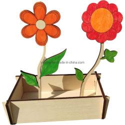 Fiore di legno in scatola di base di ringhiera di legno come arredamento domestico O Shop Display
