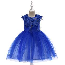 نوعان من عروض المبيعات المختلطة يكلفان السعر للأطفال الجدد اللباس لاس الزفاف أداء الملابس تطريز ماش الأميرة اللباس