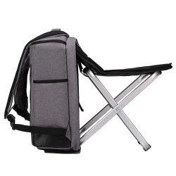 Piscina Camping Adolescente Dobra Viagem mochila de fezes com cadeira de Aço