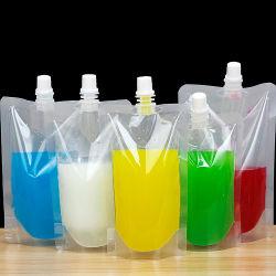 Soporte de plástico laminado jugo líquido el agua la boca Jelly Pouch bolsa