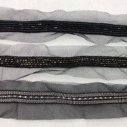 A Malha decorativas Braid corrente metálica guarnição de renda para as mulheres vestem