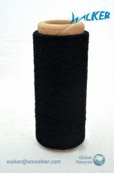 Ne 12 Couleur Noir Polyester recyclé à fils de coton mélangé