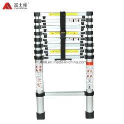 En131-6 Approvaled 13 Passo reta de alumínio escada telescópica com espaçamento para proteger os dedos