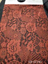Orange Baumwollspitze-Gewebe-grosse Muster-Spitzeapplique-Stickerei für Kleid-Zubehör für Damen auf Lager