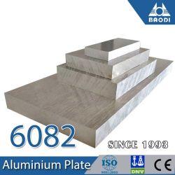 Placa de ligas de alumínio, 6082 T6 Placa de alumínio