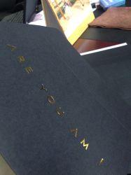 Hot Stamping de alta calidad de impresión de sobres sobres Tarjeta Negra