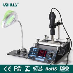 Yihua 853AA BGA Estação de retrabalho com lâmpada lupa com Placa de Suporte+ eletrônico pequeno dispositivo de fixação da placa