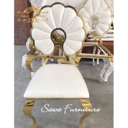 現代スタック可能金のイベントのステンレス鋼の椅子
