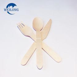 Garfo de madeira descartáveis Spoon Conjunto talheres da Faca