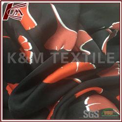 Boa qualidade de impressão Floral Fabricante Vertical Tecido acetinado de seda