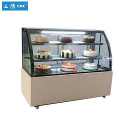 acero inoxidable pantalla comercial pastel expositor frigorífico
