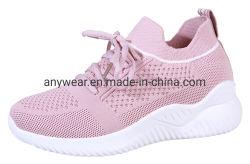 Salle de gym Flyknit Femmes chaussures de sport Mesdames Sneaker (9808)