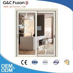 precio de fábrica comercial puerta corrediza de aluminio en la pared