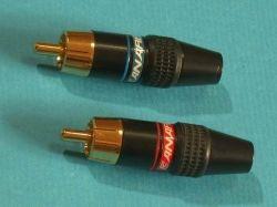 موصل كابل مكبر صوت RCA DIY ذو التخطيط الذهبي