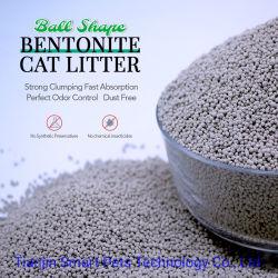Formato esférico Bentonite Tofu Gel de sílica cristalina Fabricante de areia de serapilheira Cat