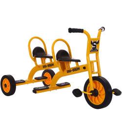 運転するべき子供のための就学前教育の二重シート3の車輪の三輪車