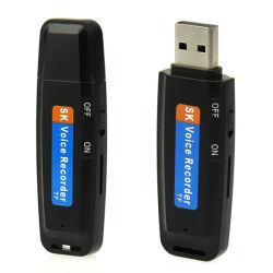 Unidade Flash USB mini disco U Áudio Digital Voice Recorder TF a gravação
