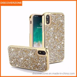 2-em-1 Rhinestone All-Inclusive Diamond Celular Casos Anti-Drop