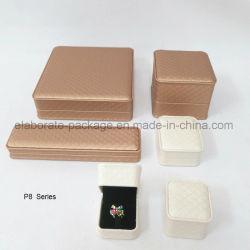 Embleem van de luxe drukte de Aangepaste Doos van het Pakket van de Juwelen van de Doos van het Leer van Pu Houten af