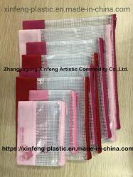 Borrar Lápiz plástico resellables Zipper Bolsa Ziplock Bolsa de Comercio al por mayor de la carpeta de archivos para Pen