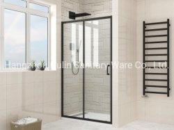 Preto fosco Sliding-Frame única casa de banho com duche
