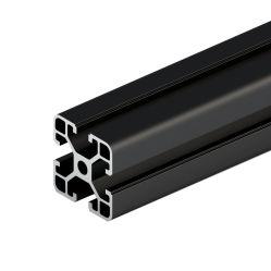 6.063 T Slot Slot V 40X40 Prata anodizado preto Alumínio Industrial extrusão de perfis 4040