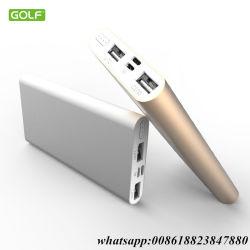 Bank-leuchtender externer Batterie-Satz-gab beweglicher Aufladeeinheit 2 der Energien-10000mAh USB für Tabletten iPhone Samsung-HTC Smartphones aus