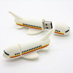 Индивидуальная форма самолета из ПВХ 4 ГБ 8 ГБ 16ГБ 32ГБ с USB Memory Stick индивидуального творческого 3.0 флэш-накопитель USB